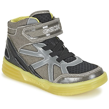 Shoes Boy Hi top trainers Geox J ARGONAT B. B Grey / Citron