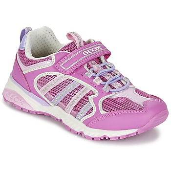 Shoes Girl Low top trainers Geox J BERNIE G. A Pink / Lilac