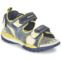 Shoes Boy Outdoor sandals Geox J BOREALIS B. D Marine / Citron