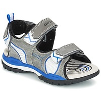 Shoes Boy Outdoor sandals Geox J BOREALIS B. D Grey / Blue