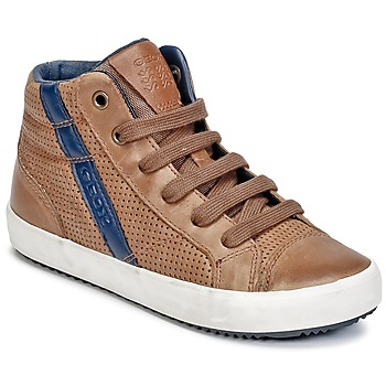 Shoes Boy Hi top trainers Geox J ALONISSO B. B COGNAC