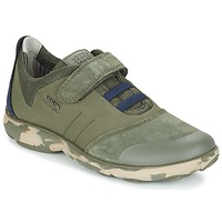 Shoes Children Low top trainers Geox J NEBULA B. A MILITARY / NAVY