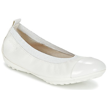 Shoes Girl Flat shoes Geox J PIUMA BALL B White