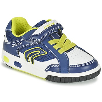 Shoes Boy Low top trainers Geox J GREGG A BLUE / LIME