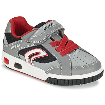 Shoes Boy Low top trainers Geox J GREGG A Grey / Red
