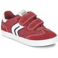 Shoes Boy Low top trainers Geox J KIWI B. M Red / Marine