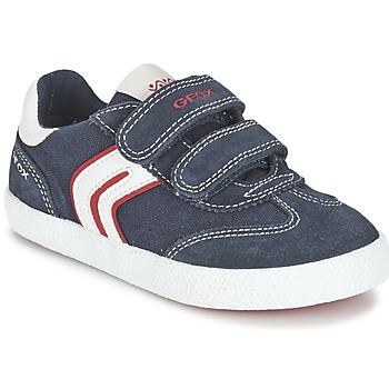 Shoes Boy Low top trainers Geox J KIWI B. M MARINE / Red