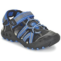 Shoes Boy Outdoor sandals Geox J SAND.KYLE C Black / Blue