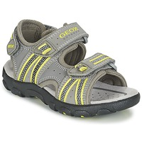 Shoes Boy Outdoor sandals Geox J S.STRADA A Grey / Green