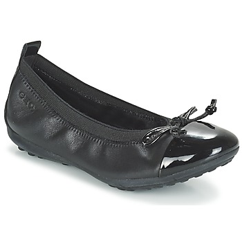 Shoes Girl Flat shoes Geox J PIUMA BAL F Black
