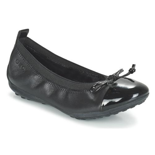 Shoes Girl Flat shoes Geox J PIUMA BAL F Black