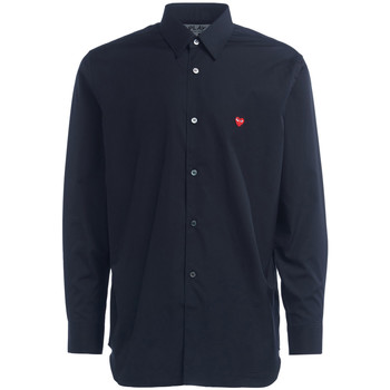 Clothing Men long-sleeved shirts Comme Des Garcons Camicia Comme Des Garcons PLAY di colore nero Black