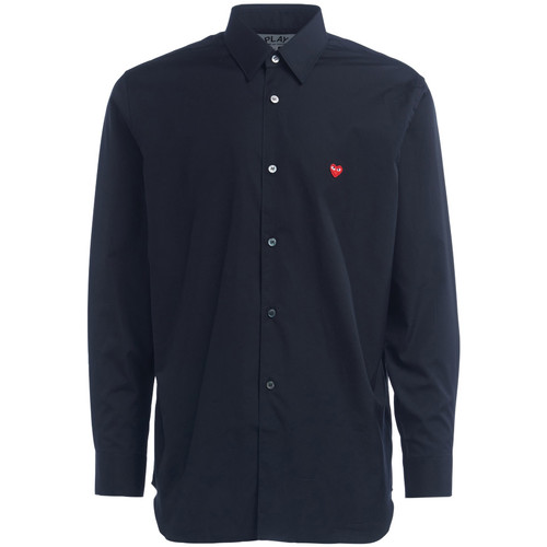 Clothing Men long-sleeved shirts Comme Des Garcons Comme Des Garcons PLAY shirt in black Black