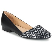 Shoes Women Flat shoes Hush puppies JOVANNA Black / White