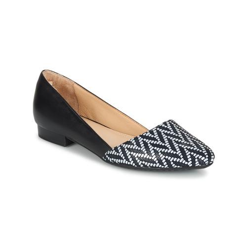 Shoes Women Flat shoes Hush puppies JOVANNA Black / White