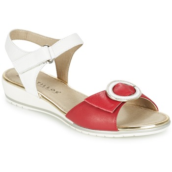 Shoes Women Sandals Pitillos MERVA White / Red
