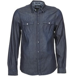 Clothing Men Long-sleeved shirts Energie VETTEL Blue