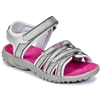 Shoes Girl Outdoor sandals Teva TIRRA SILVER / Magenta