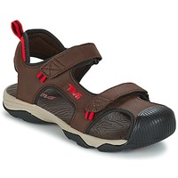 Shoes Boy Outdoor sandals Teva TOACHI 4 Brown / Black / Red