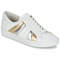 Shoes Women Low top trainers MICHAEL Michael Kors CONRAD SNEAKER White / Gold / Silver