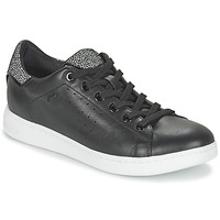 Shoes Women Low top trainers Geox JAYSEN A Black