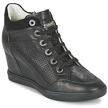 Shoes Women Hi top trainers Geox ELENI C  BLACK