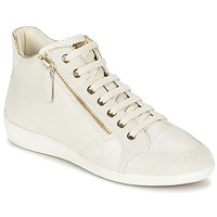 Shoes Women Hi top trainers Geox MYRIA Off / White