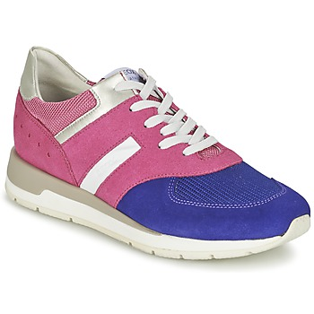 Shoes Women Low top trainers Geox SHAHIRA A Pink / Purple
