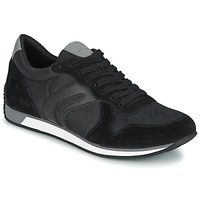Shoes Men Low top trainers Geox VINTO C Black