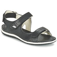 Shoes Women Outdoor sandals Geox D SAND.VEGA A Black