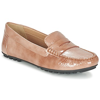 Shoes Women Loafers Geox D LEELYAN B TOFFEE