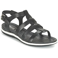 Shoes Women Sandals Geox D SAND.VEGA A Black
