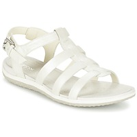 Shoes Women Sandals Geox D SAND.VEGA A White