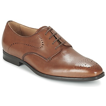 Shoes Men Derby Shoes Geox U NEW LIFE A COGNAC