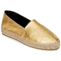 Shoes Women Espadrilles Kenzo TIGER METALIC SYNTHETIC LEATHER Gold