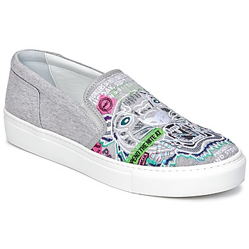 Shoes Women Slip ons Kenzo K-SKATE Grey