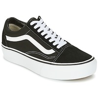 Shoes Women Low top trainers Vans UA OLD SKOOL PLATFOR Black / White