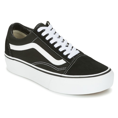 Shoes Women Low top trainers Vans UA OLD SKOOL PLATFOR Black / White