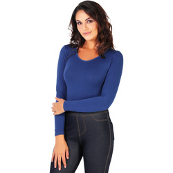 Clothing Women Bodysuits Krisp Long Sleeved Bodysuit {Blue} Blue