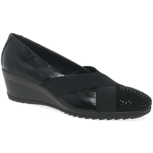 Shoes Women Loafers Van Dal Charity Womens Casual Wedge Heel Shoes black