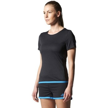 Clothing Women short-sleeved t-shirts adidas Originals Uncontrol Climachill Black
