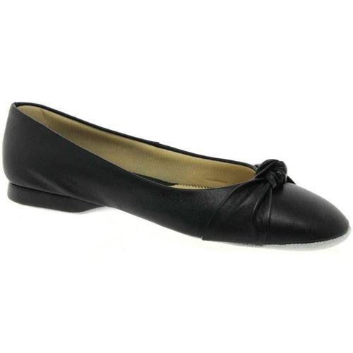 Shoes Women Flat shoes Relax Slippers Knot Leather Slipper black