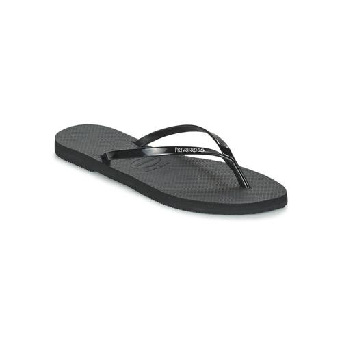 Shoes Women Flip flops Havaianas YOU METALLIC Black