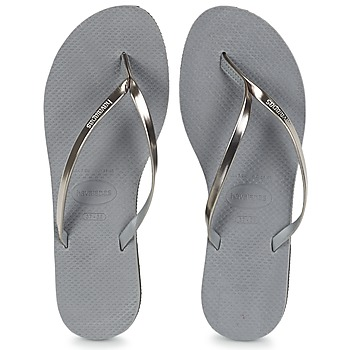 Shoes Women Flip flops Havaianas YOU METALLIC Grey