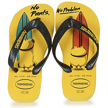 Shoes Children Flip flops Havaianas KIDS MINIONS Yellow / Black