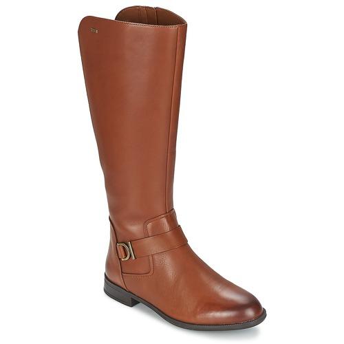 Shoes Women High boots Clarks MINT TREAT GTX Brown
