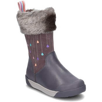Shoes Children Boots Clarks Lilfolkrae Grey