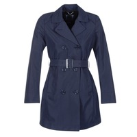 Clothing Women Trench coats Geox CREM MARINE
