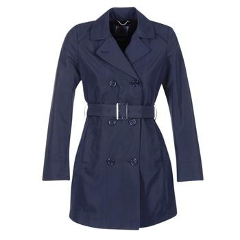 Clothing Women Trench coats Geox CREM MARINE