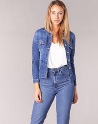 Clothing Women Denim jackets Le Temps des Cerises LILLYM Blue / Medium